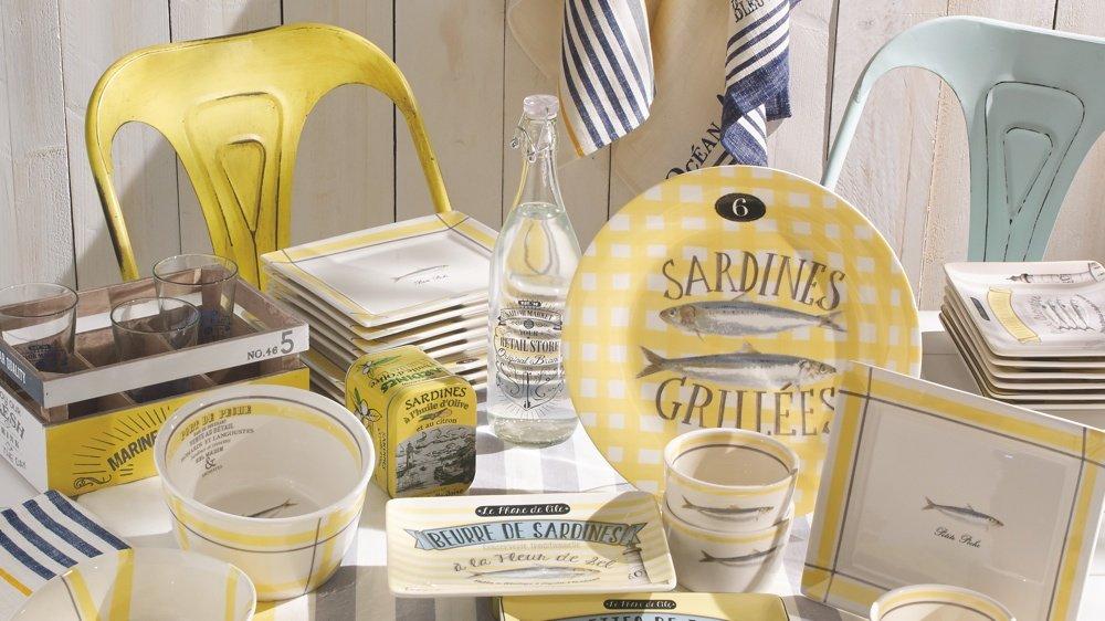 """Je craque pour ces assiettes """"sardines vues chez Maisons du Monde"""