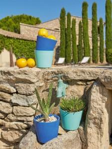 Des jolis pots de fleurs colorés chez Cyrillus