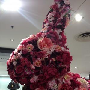 un lapin roses!
