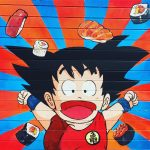 Food amp geek district  dragonball lyon7powa streetart Lire lahellip