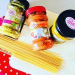 Ce midi ctait pasta sur mesure avec les sauces Pollihellip