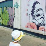 Initier MiniM au street art via ses 2 passions duhellip